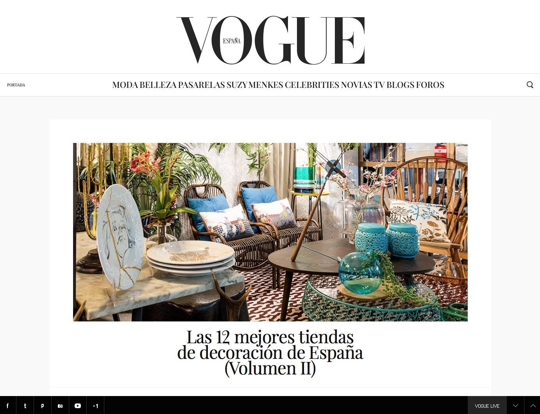 Revista Vogue Noviembre 2016 decoración sevilla